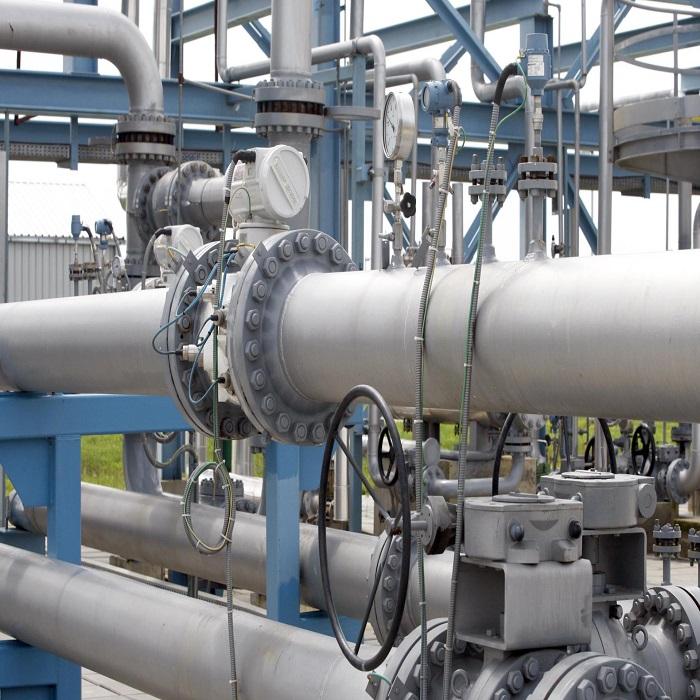 فشار سیال در خطوط لوله  فشار سیال فشار سیال در عملیات هات تپ Supercritical Pressure Pipeline 124839433